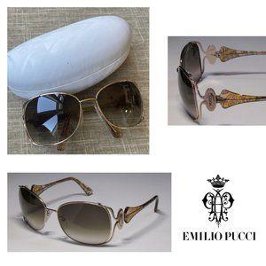 Emilio Pucci 104s 757 Gold Sunglasses